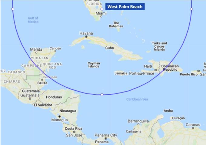CSI Aviation range from West Palm Beach, Florida